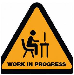 Arbete pågår